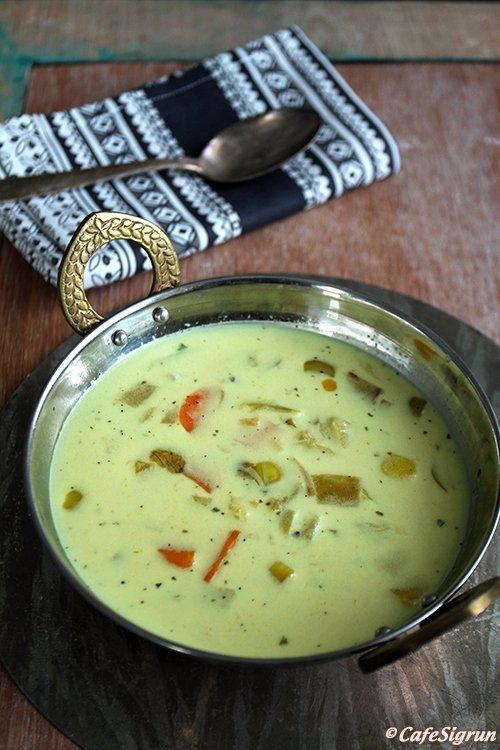 Mulligatawny súpa (indversk grænmetissúpa)